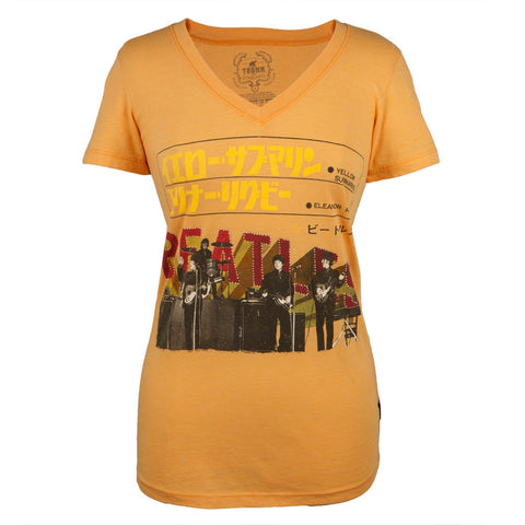 Beatles - Japan Stage Premium Juniors V-Neck T-Shirt
