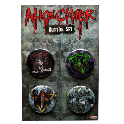 Alice Cooper - Four Piece Button Set