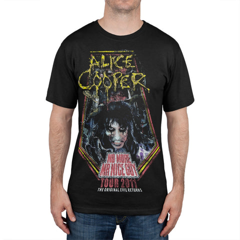 Alice Cooper - No More Mr. Nice Guy 2011 Tour Black�����T-Shirt