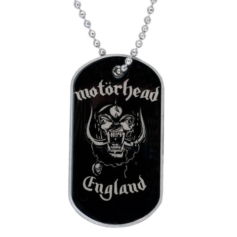 Motorhead - England Dog Tag Necklace