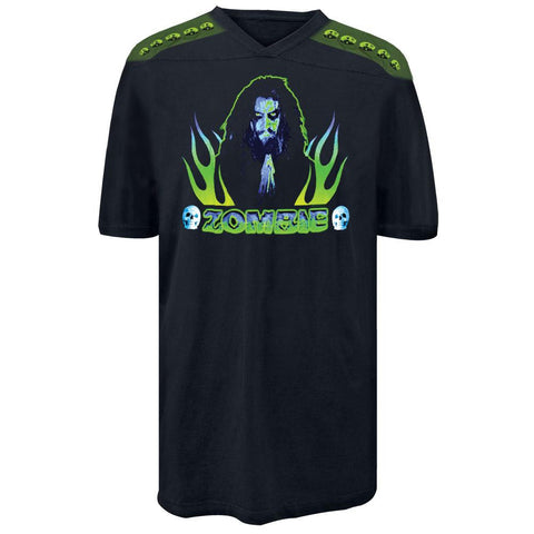Rob Zombie - Praying Flames Football Jersey