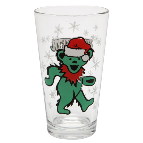 Grateful Dead - Holiday Dancing Bear Pint Glass