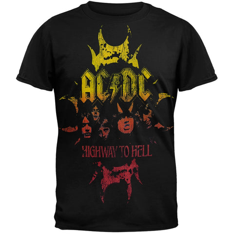 AC/DC -  Highway To Hell Crackle Horn Logo T-Shirt
