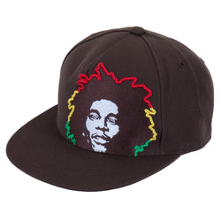 Bob Marley - Rasta Hair Brown Fitted Baseball Cap