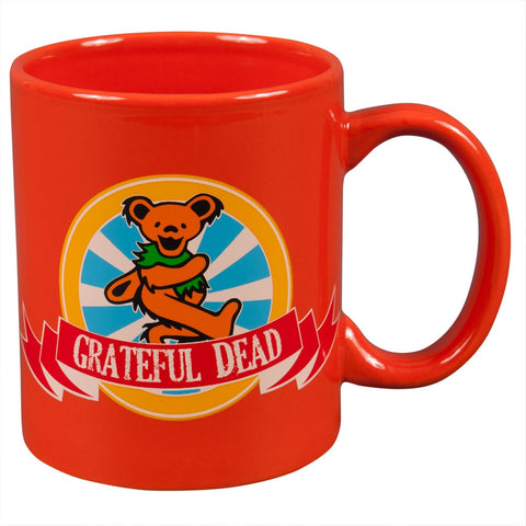 Grateful Dead - Orange Dancing Bear Circle Logo 11oz Coffee Mug