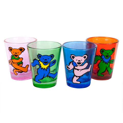 Grateful Dead - Dancing Bears Variety Shot Glasses 4-Pack Set