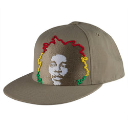 Bob Marley - Rasta Hair Tan Fitted Baseball Cap