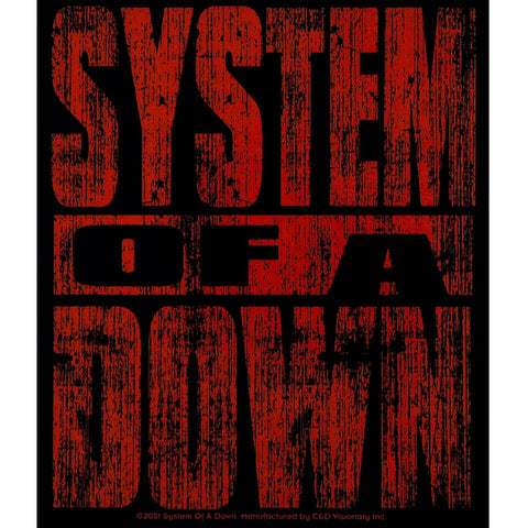 System Of A Down - Red Logo - Decal