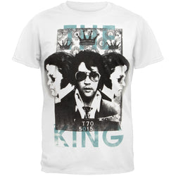 Elvis Presely - The King White Adult T-Shirt