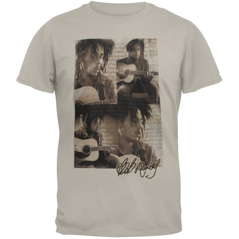 Bob Marley - Guitar Collage Adult Soft T-Shirt