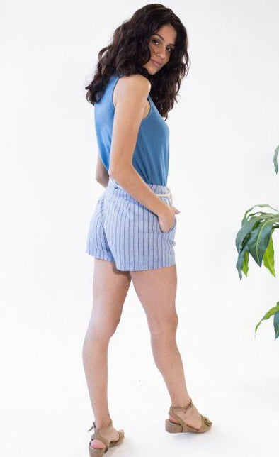 Cartagena Beach Shorts Blue - Pink Martini Collection