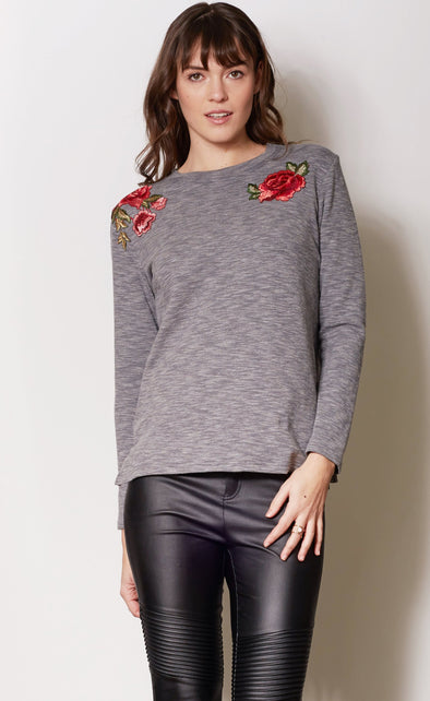 Concrete Rose Top Grey - Pink Martini Collection