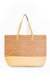 Large 2-Tone Straw Bag - Pink Martini Collection