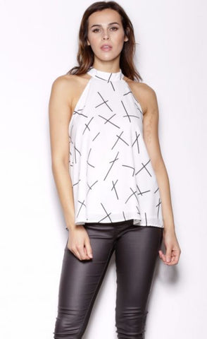 High Noon Top White
