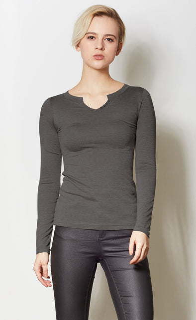 The Larissa Top Dark Grey - Pink Martini Collection