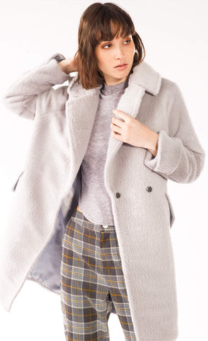 The Chloe Coat Grey - Pink Martini Collection