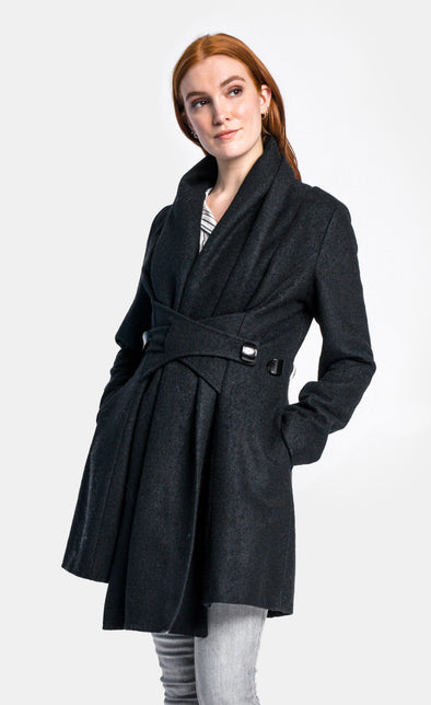 Pink Martini Collection - The Natalia Coat Black