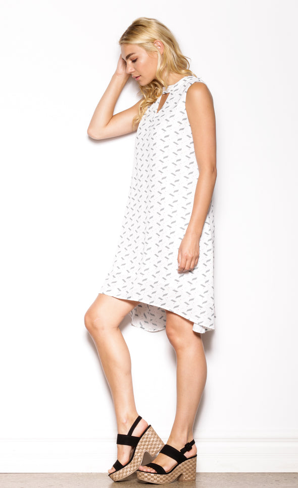 Electric Feel Dress White - Pink Martini Collection