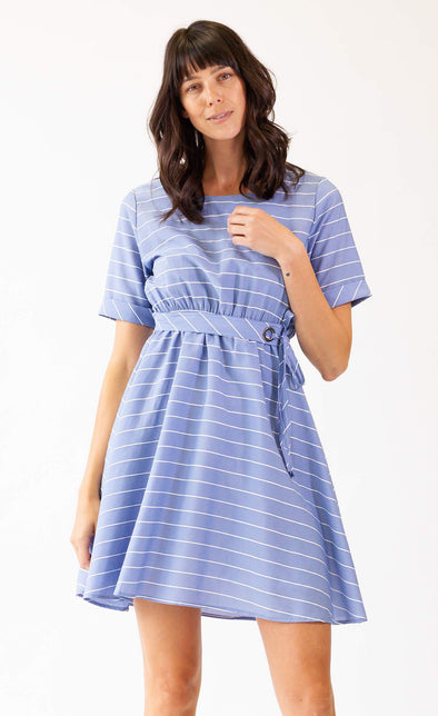 Beach Waves Dress Blue - Pink Martini Collection