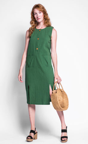 Pink Martini Collection - The Luella Dress Green