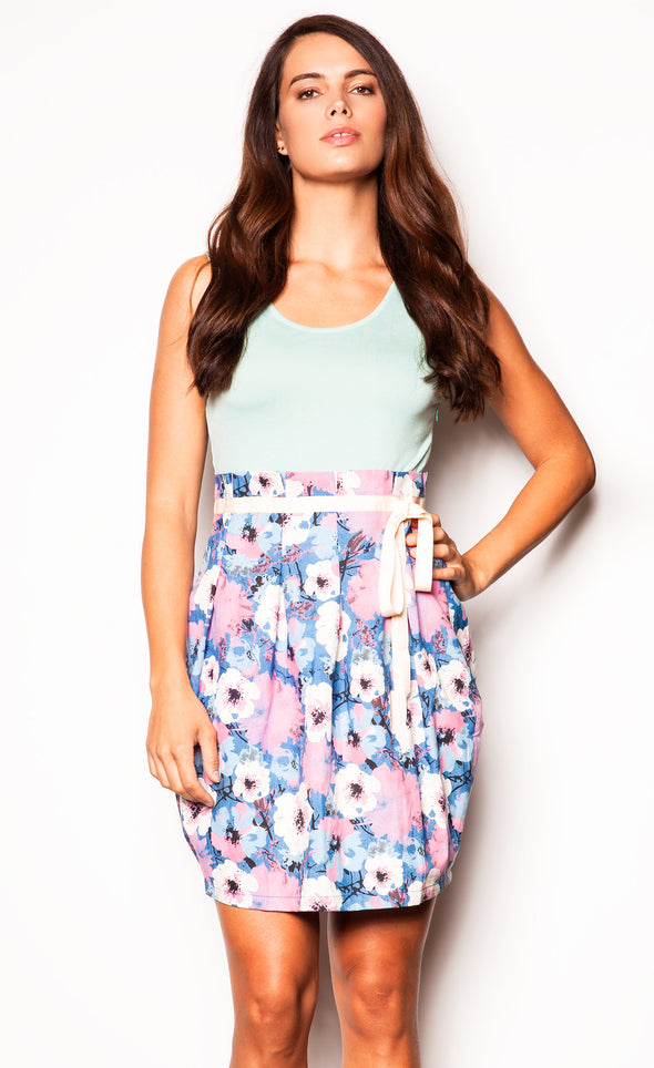 Scenic Road Trip Dress Teal - Pink Martini Collection