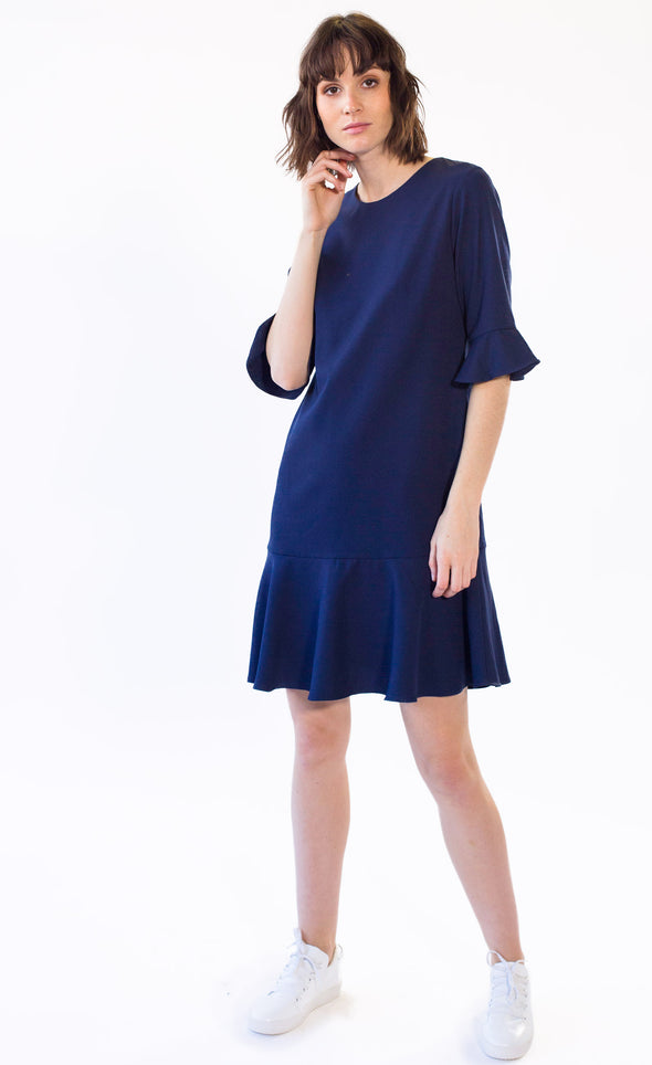 Isabella Dress Navy - Pink Martini Collection