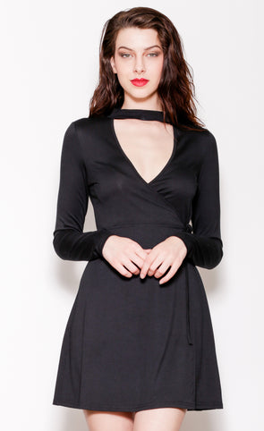 Ballet Wrap Dress Black - Pink Martini Collection