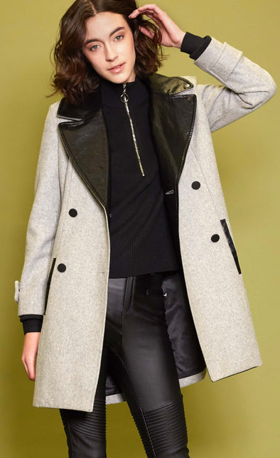 The Midtown Coat Grey - Pink Martini Collection