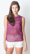 Gridlock Top - Pink Martini Collection