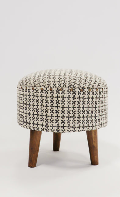 Handmade Patterned Ottoman - Pink Martini Collection