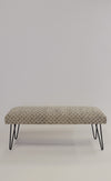 Patterned Iron Leg Bench - Pink Martini Collection