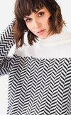 The Luna Chevron Sweater - Pink Martini Collection