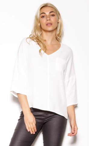 Mrs. Brightside Top Off-White