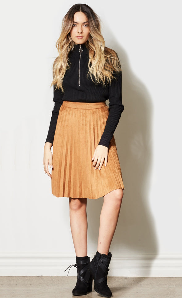 Pleat The Odds Skirt - Pink Martini Collection