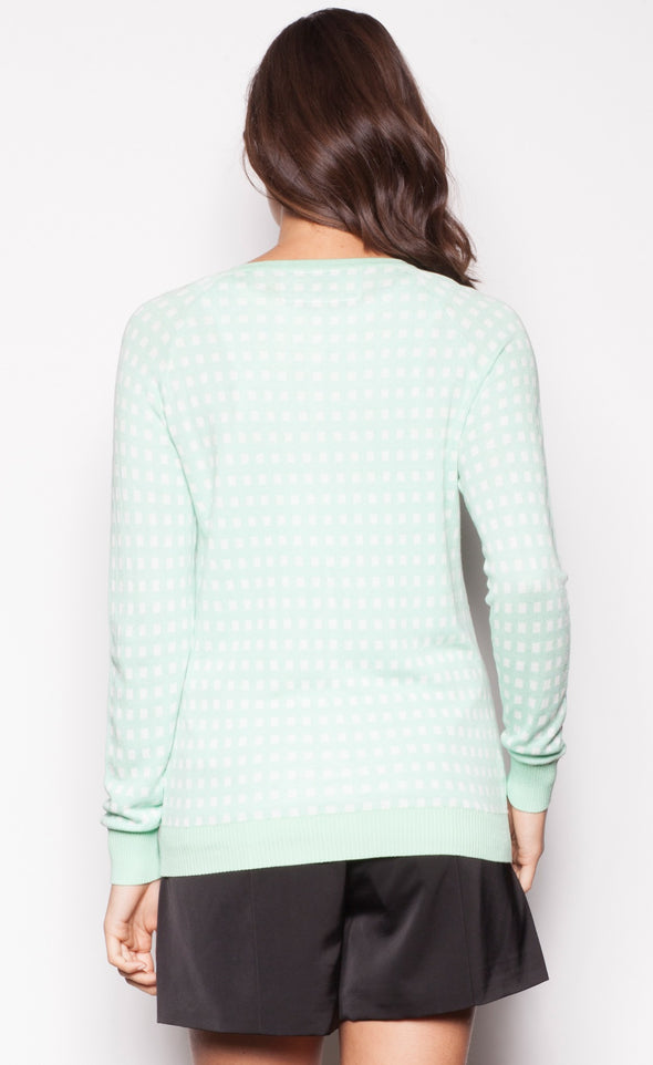 High Check Sweater - Pink Martini Collection