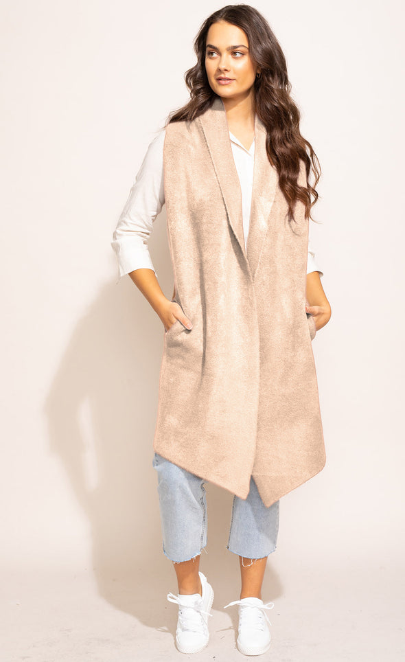 The Stockport Vest Beige - Pink Martini Collection