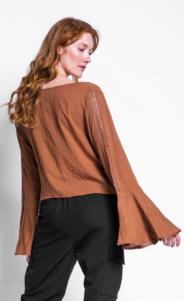 Ring My Bell Sleeve Top - Pink Martini Collection
