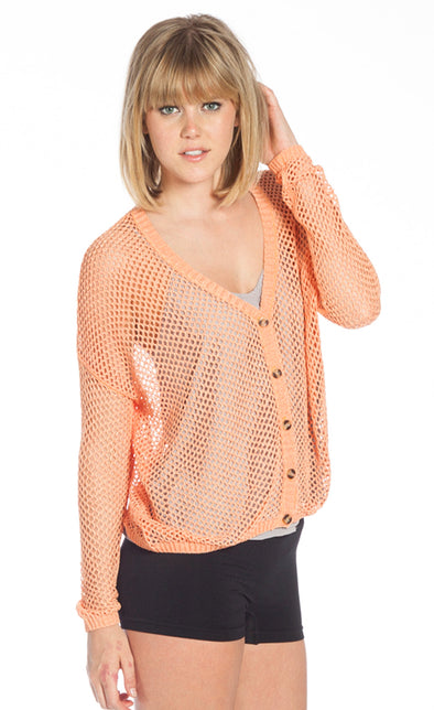 The Open Knit Cardi - Pink Martini Collection