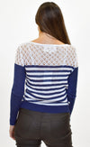 By The Sea Sweater Navy - Pink Martini Collection