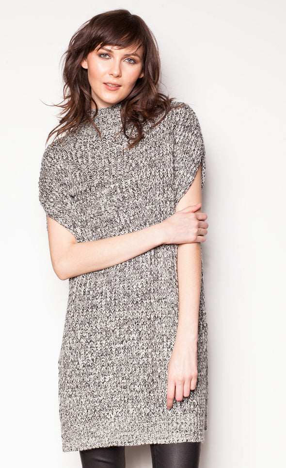 Slit Personality Sweater - Pink Martini Collection