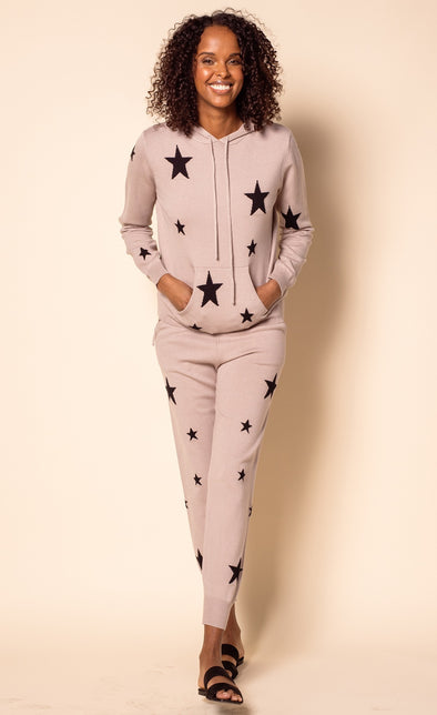 The Abella Hoodie Set Taupe - Pink Martini Collection