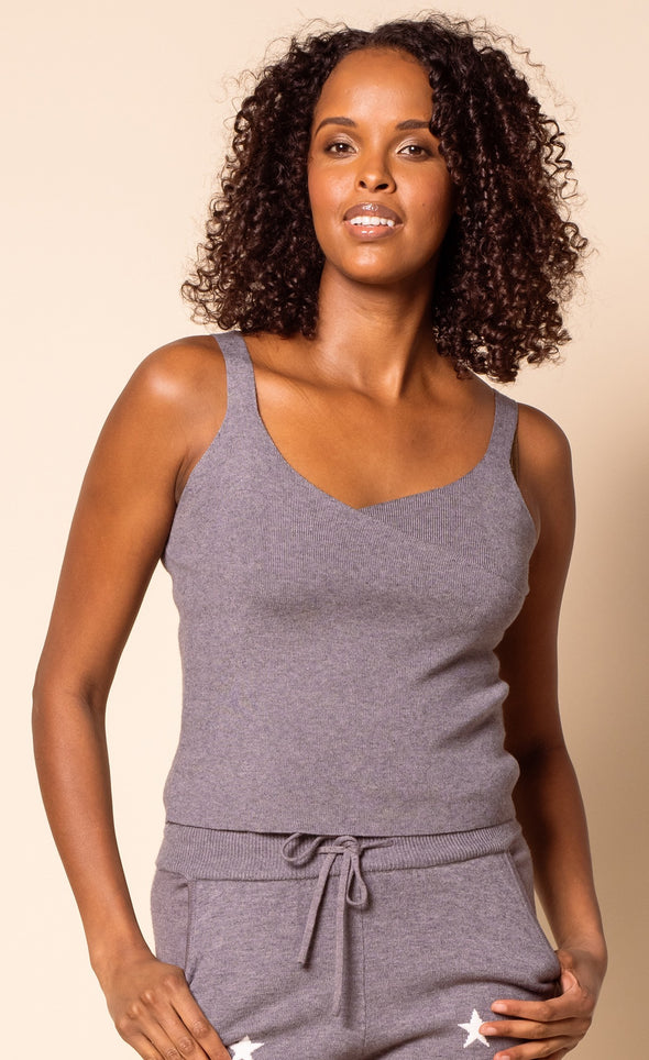 The Cross Tank Top Grey - Pink Martini Collection