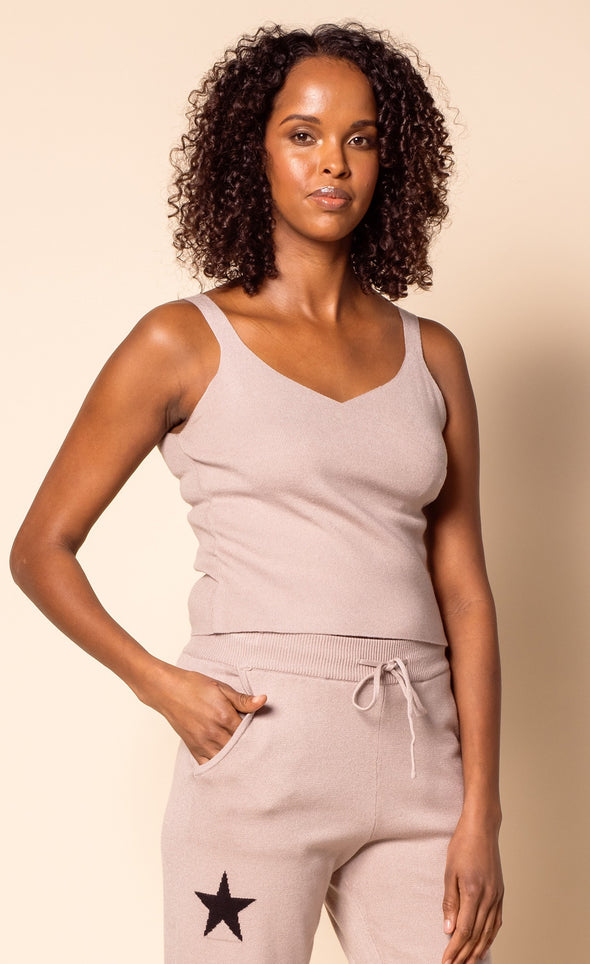 The Cross Tank Top Taupe - Pink Martini Collection