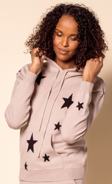 The Abella Hoodie Taupe - Pink Martini Collection