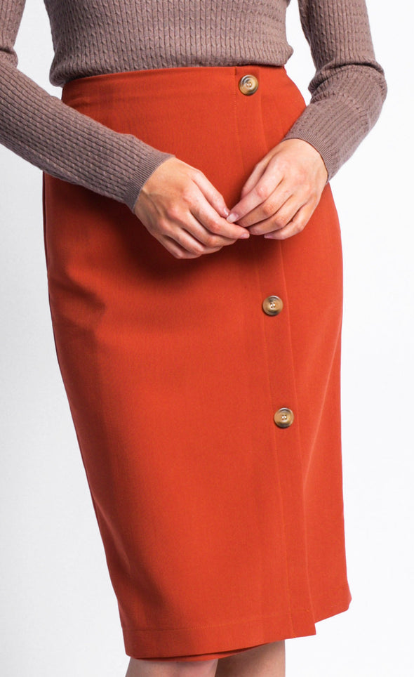 Pink Martini Collection - The Scarlett Skirt Brown