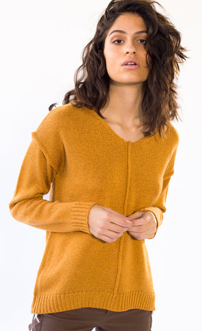 Pink Martini Collection - Runaway Sweater Mustard
