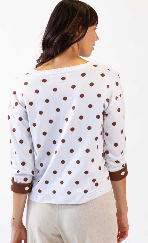 Follow The Dots Sweater - Pink Martini Collection