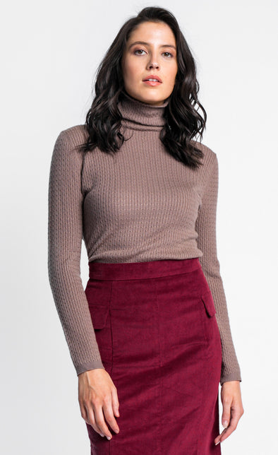 Pink Martini Collection - The Kat Sweater Brown