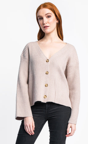 Pink Martini Collection - The Ziggy Cardigan Beige