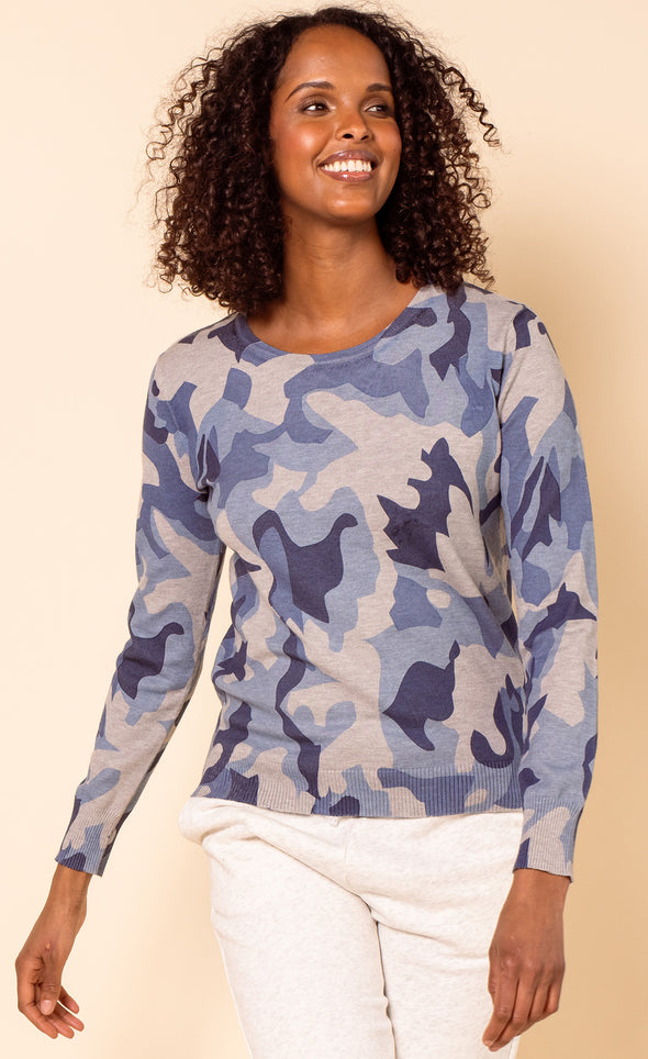 The Camo Sweater - Pink Martini Collection